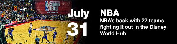 NBA - July 31 (Australia date) - New Orleans Pelicans vs Utah Jazz (first game)